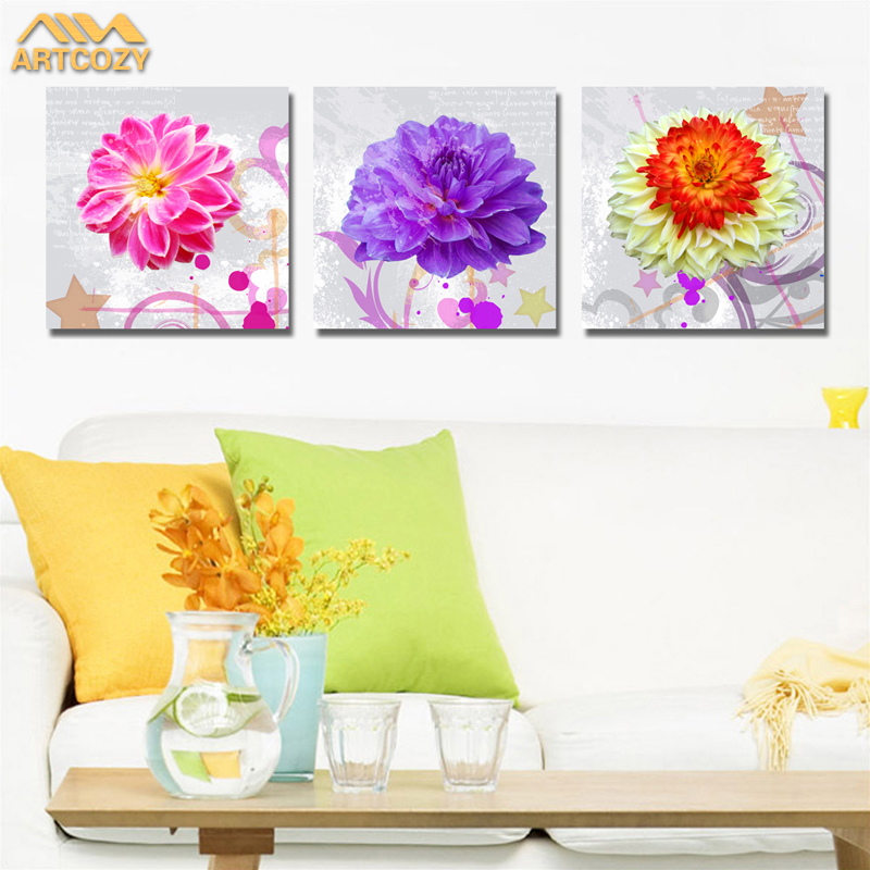 Artcozy Waterproof Ink Flowers Art Prints Poster Hipster Wall Picture Canvas Painting For Kids Room Home Decor