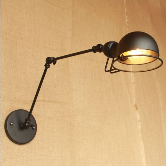 Retro Edison Wall Sconce Vintage Wall Lights For Home With Long Arm In Loft Industrial Wall Lamp Arandelas Aplik america rope vintage wall lights fixtures in style loft industrial wall lamp edison wall sconce wandlamp lamparas aplik