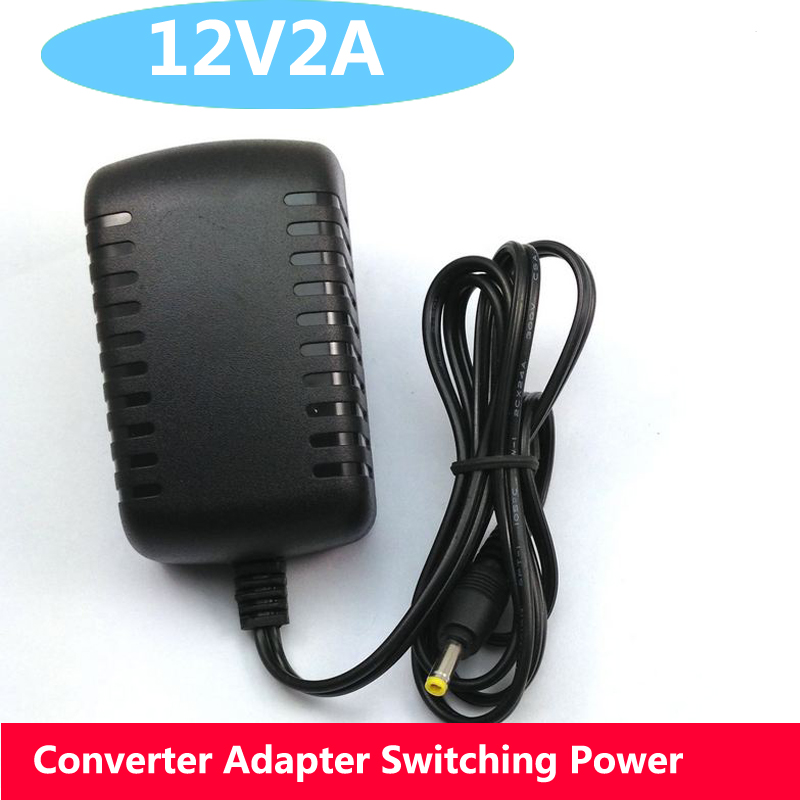 1Pcs AC 100-240V to DC 12V 2A Converter Adapter Switching Power Supply Charger For LED Strips Light EU Plug Brand New zosi ac au eu uk optional plug ac 100 240v to dc 12v 2a power adapter supply charger for led strips light free shipping
