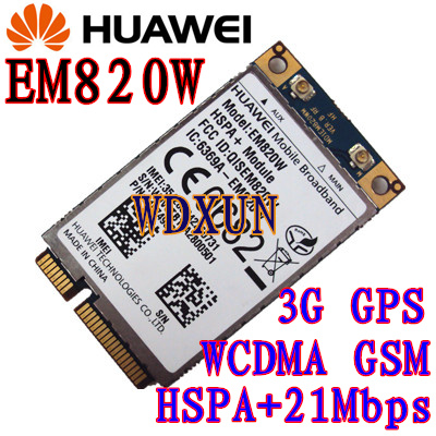 Odklenjeno HuaWei EM820U 3G WCDMA GSM WWAN kartica HSPA + 21Mb nad EM820w 820w 3G modul CARD EM820U EM770W