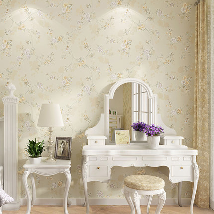 Pastoral Small Floral Nonwovens Wallpaper European Bedroom Living Room TV Background Wall 0.53m*10m beibehang european pastoral floral nonwovens wallpaper warmer bedroom living room full house sofa tv background wallpaper
