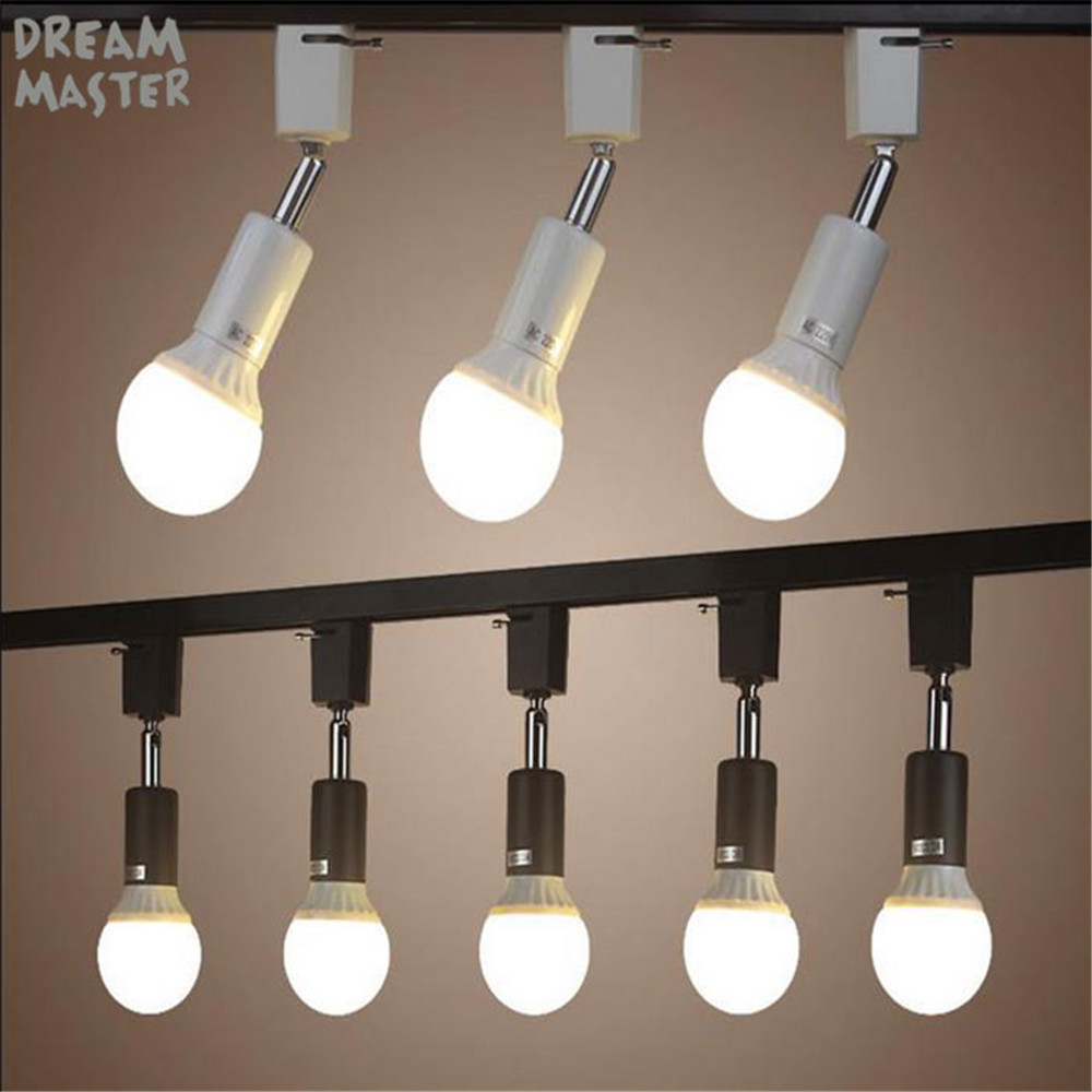 Modern E27 holder track light lamp Rotated Track Lighting for store shopping mall lighting lamp White black spot ceiling lamp ...