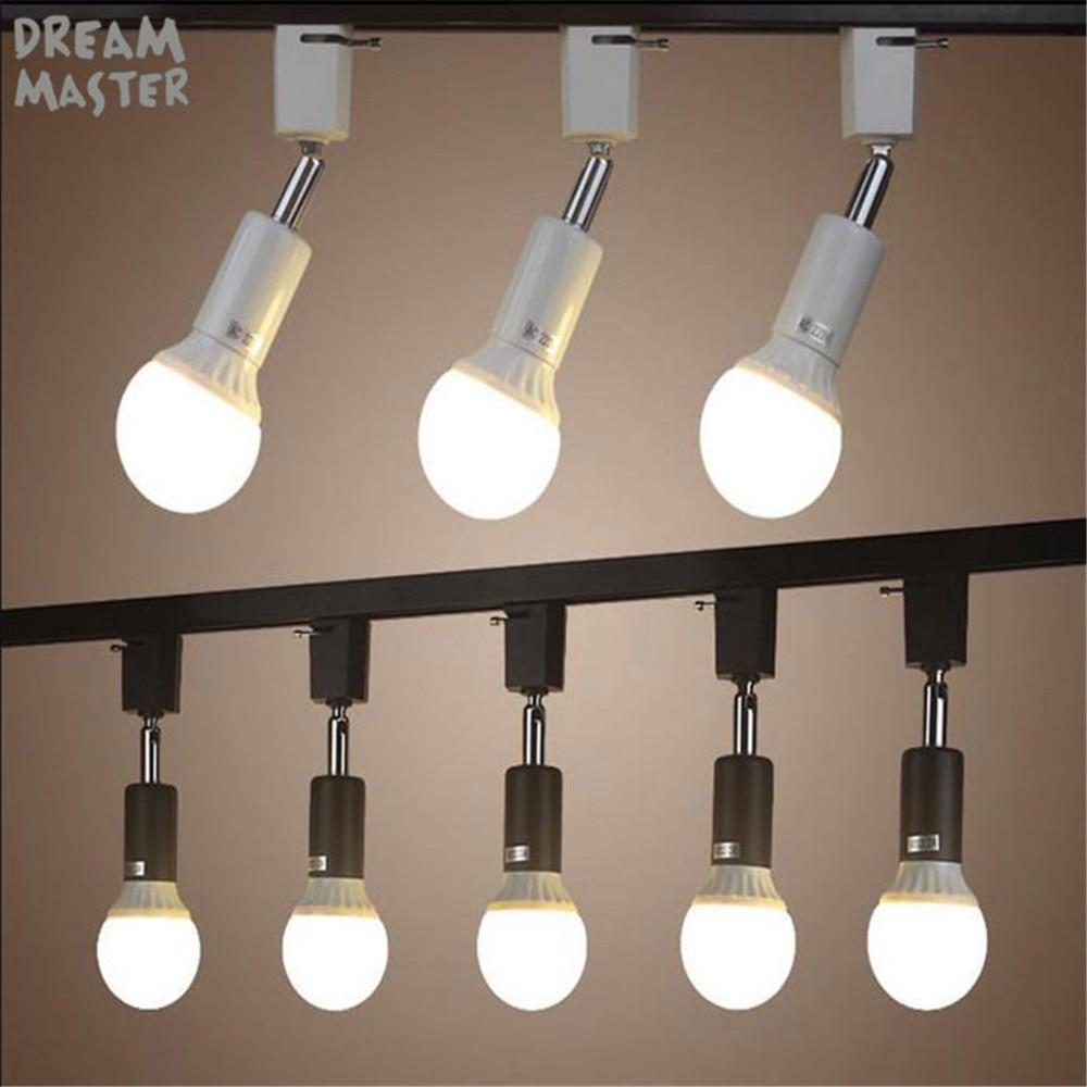 Us 3 99 Modern E27 Holder Track Light Lamp Rotated Lighting For Ping Mall White Black Spot Ceiling In