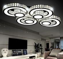 Nueva llegada de cristal moderna iluminación de techo control remoto 3 colores ajustable plafondlamp creativo salón lámpara