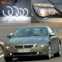 BMW 6 serisi için E63 E64 630i 650i 645i 650Ci 645Ci M6 2004 2005 2006 2007 mükemmel DRL Ultra parlak smd led melek gözler kiti