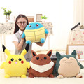 Calidad Lindo Pikachu EEVEE Almohada + manta cojín de peluche de juguete 35 cm