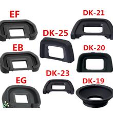 DK-19 DK-20 DK-21 DK-23 DK-24 DK-25 EF EB EG EC DK-5 Rubber Eye Cup Eyepiece Eyecup for nikon canon SLR Camera cheap Foleto 6in1