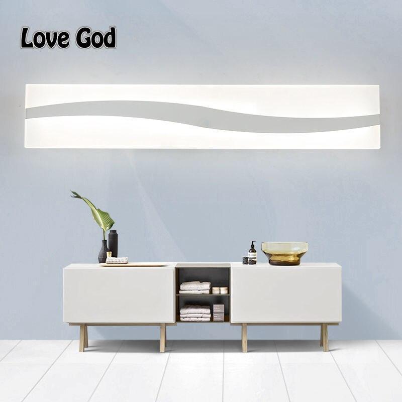 ФОТО 40CM-60CM Mirror light led bathroom wall lamp mirror glass waterproof modern Wall Sconce lamp Deadboard led mirror lamp