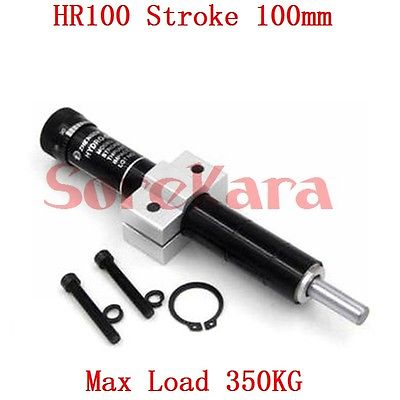 HR100 Adjustable Oil Pressure Buffer Damper SR100 Hydraulic Stable Stroke 100mm Max Load 350KG Pneumatic Element