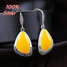 925 Sterling Silver Color Vintage Woman Earrings Hook Blank Base Fit 11*17mm Jewelry  Amber Earrings Accessorirrings Accessories