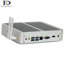 Kingdel Hot Intel i3 7100U Fanless Mini Desktop PC Windows 10 Linux 4K HTPC USB3.0 HDMI VGA max 16G RAM 300M Wifi