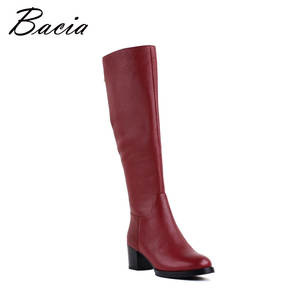 Bacia Genuine Leather Shoes Women Winter Motorcycle Boots