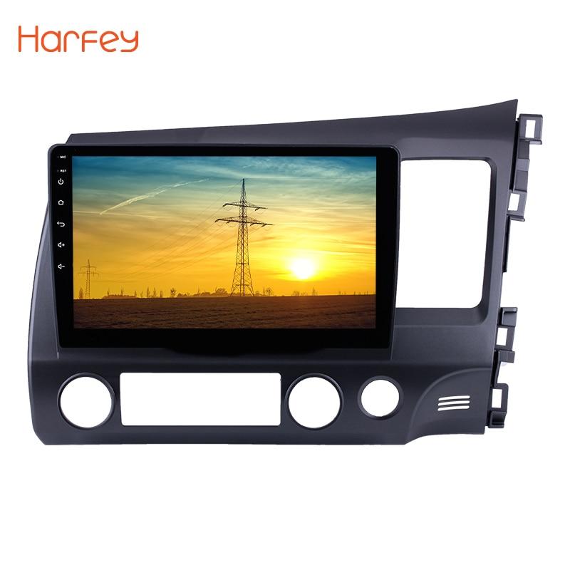 Harfey For 2006 2007 2008 2009 2011 HONDA CIVIC Right Hand Drive Car Multimedia Player GPS Navi Android 8.1 10.1 Car Radio