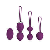 4pcs Wireless Vibrating Eggs Silicone Ben wa ball G Spot Vibrator Vaginal Ball Trainer Sex Toys Kegel Vagina Tightening Ball Set