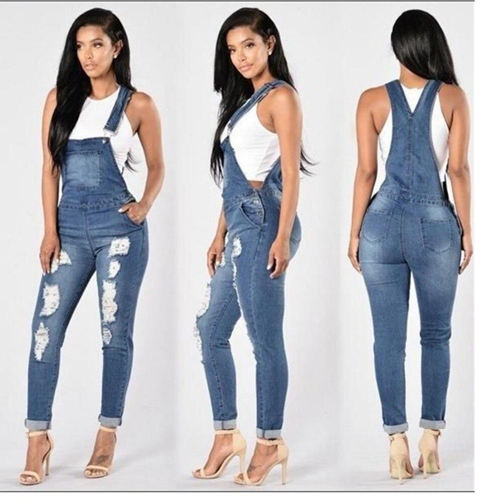 Jeans 2017 Summer Autumn Hole high elastic foot fashion cowboy straps panty