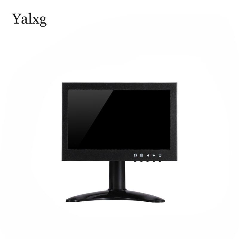 Yalxg 7 pollici TFT LED 1024x600 HD Monitor con BNC/HDMI/VGA/AV Per PC telecamera di Sicurezza CCTV Uso InternoYalxg 7 pollici TFT LED 1024x600 HD Monitor con BNC/HDMI/VGA/AV Per PC telecamera di Sicurezza CCTV Uso Interno