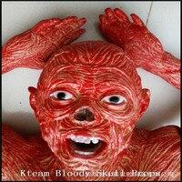Топ Класс Хэллоуин ужасный головы зомби Хэллоуин украшения Опора опустив голову призрак игрушка новизны для партии дом с привидениями кров