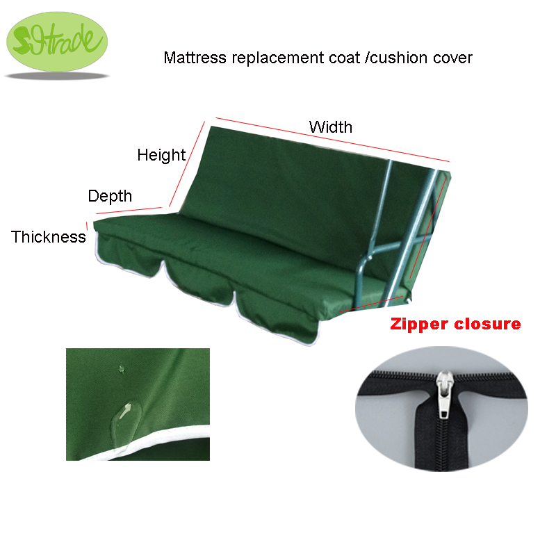Mattress Replacement Coat,cushion Cover,dark Green.water Proofed Swing Chair Cushion Replacement Coat.custom Available,no Inner