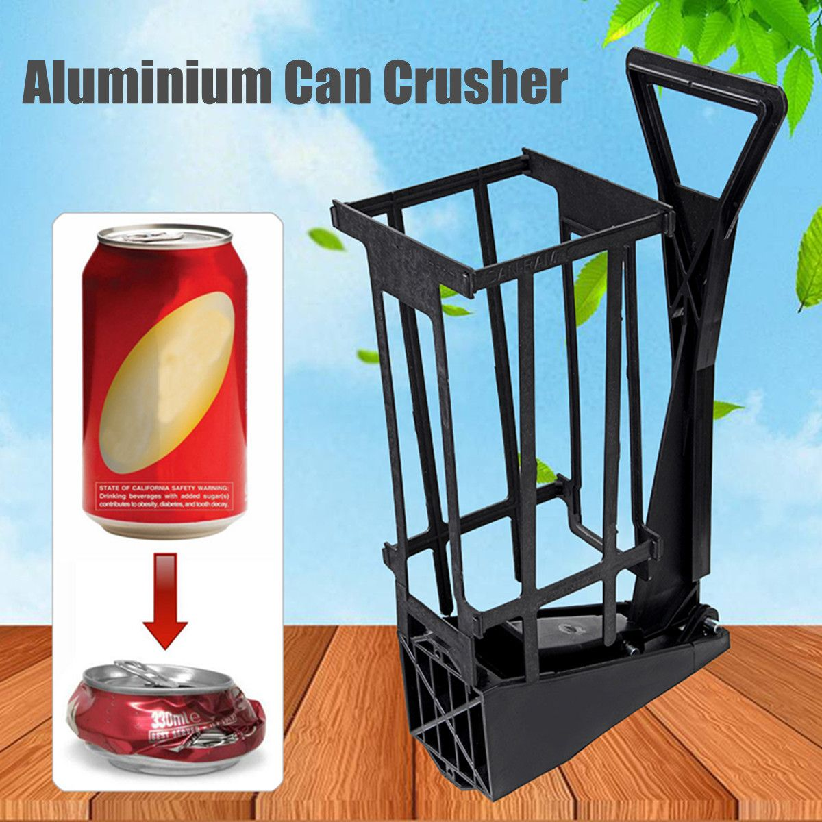 Plastic Bottle Press Crusher 500ML,Can Crusher Red Steel Rubber ...