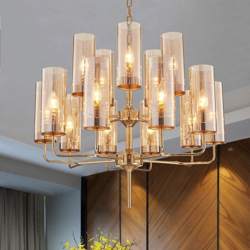 Современные светодиодные люстры для гостиной, подвесные светильники, скандинавские светильники для столовой, стеклянные светильники, подвесные светильники для спальни