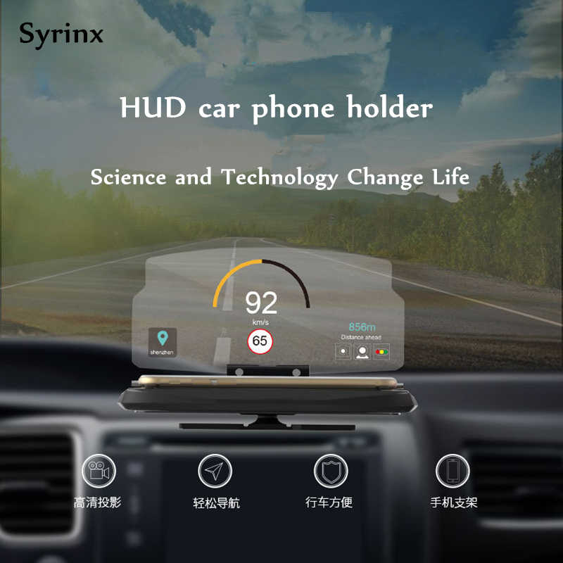 Car Phone Holder Stand Multi-function Folding Windscreen Projector Hud Head-up Display Car GPS Mirror Navigation Support Bracket