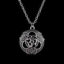 Fashion Yoga Pendant Necklace Ancient Silver Zen Buddha Buddhism  Vintage Jewelry Gift