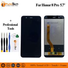 NO Logo  100% Tested AAA LCD Screen for HUAWEI Honor 8 Pro honor V9 LCD Display and with Touch Screen Digitizer Assembly 100% tested new lcd screen with touch screen digitizer assembly full sets for huawei ascend g6 black or white