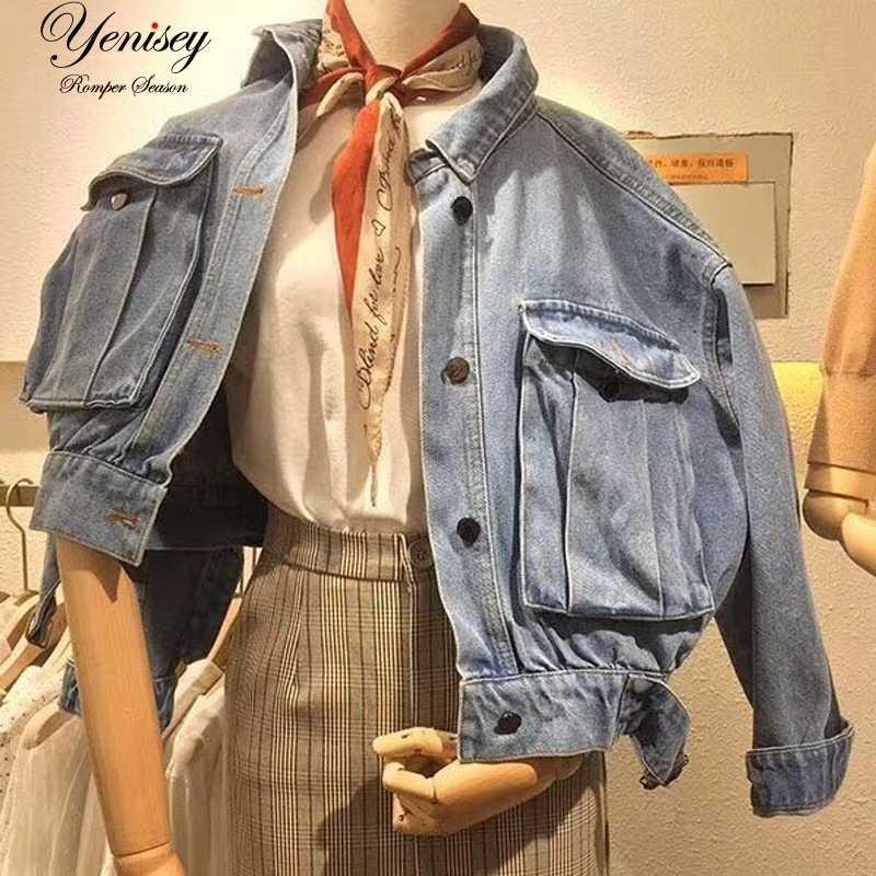 2018 для женщин джинсовые куртки новая куртка для дамы верхняя одежда пальто  с длинными рукавами b2afbbce925