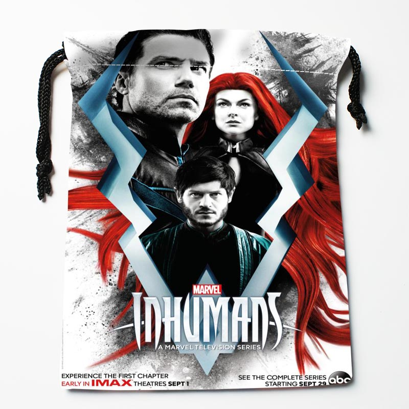 New Custom Marvels Inhumans Drawstring Bags Custom Storage Bags Storage Printed Gift Bags 27x35cm Compression Type Bags