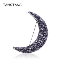 Tangtang Лунная брошь Черный Античный цвет первый лунный месяц