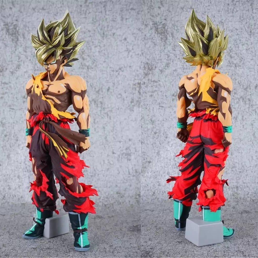 2017 New Dragon Ball Z Action Figure Toys Big Size  34cm 13 Anime Color Super Saiyan The SON GOKU Model PVC Doll Collection Toy anime figure 32cm dragon ball z super saiyan son goku lunar new year color limited ver pvc action figure collectible model toy