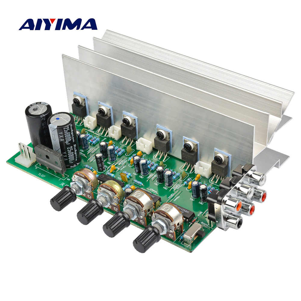 aiyima lm1875 5 1 channel audio amplifier board subwoofer amplifiers diy sound system speaker home theater 25w  [ 1000 x 1000 Pixel ]
