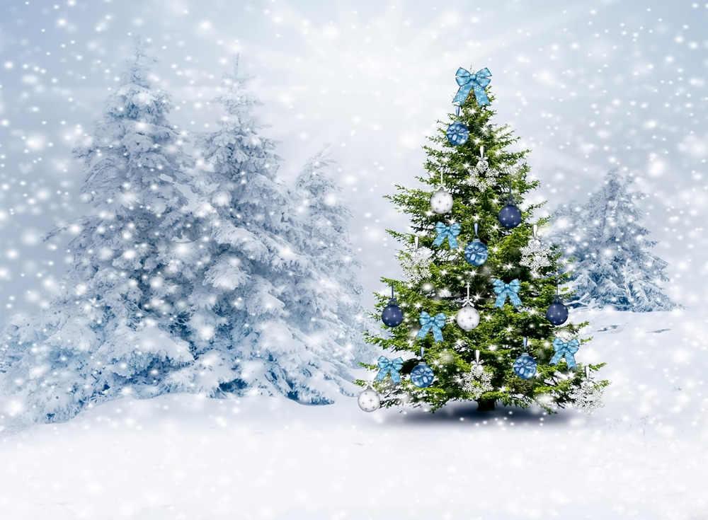 LB 2.7X1.8 متر الفينيل الشتاء خلفيات للتصوير الفوتوغرافي الدعائم عيد الميلاد شجرة في الحقل من ثلج الصور ستوديو الثلج خلفية حزب ديكور