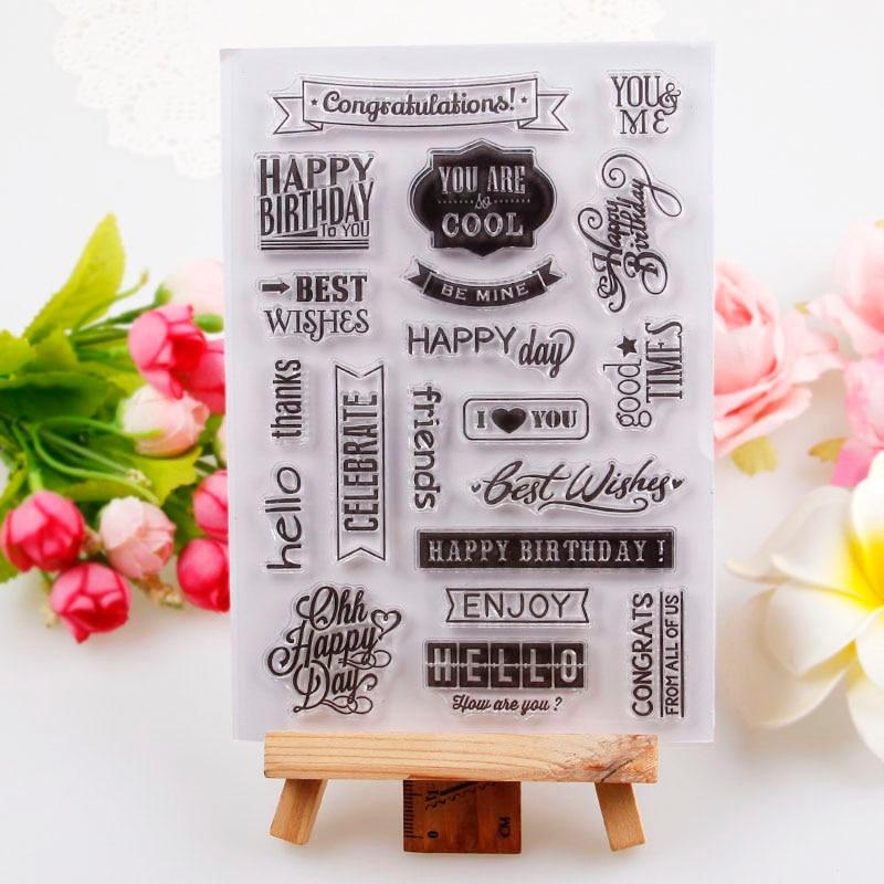 Promotions One Sheet House Enjoy Letters Design Transparent Stamp DIY Scrapbooking/Card Making/Christmas Decoration Supplies
