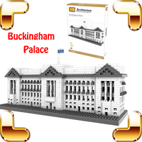 New Year Gift LOZ Diamond Blocks Buckingham Palace 3D Model Building Bricks Big Structure Decoration Toys Riddle IQ Game Collect