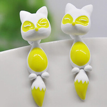 Cute little fox Earrings Three – Dimensional Animals for women and girls gift