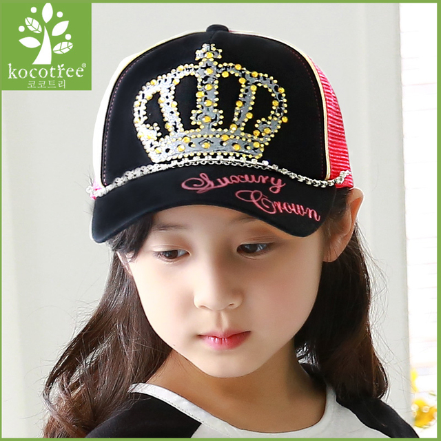 Children hat female spring girls Baseball Cap Hat Cute Princess peaked cap  Onoki aged 2-4-8 free shipping 332980a4dc5