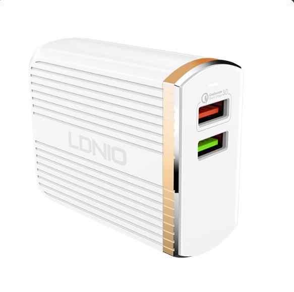 LDNIO A2502Q المزدوج USB شاحن سفر عام كوالكوم سريعة تهمة 3.0 جدار شاحن ل هاتف ذكي
