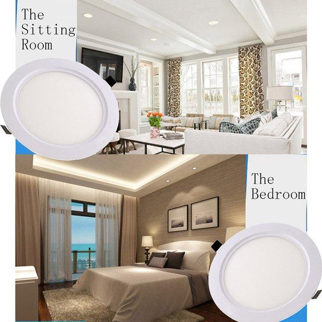 ICOCO LED Round Panel Light Ultra Thin Ceiling Lamp 3W/ 6W/9W/12W/15W/18W