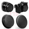 Camera Body Cover + Lens Rear Cover Cap For Canon EOS 1VIV