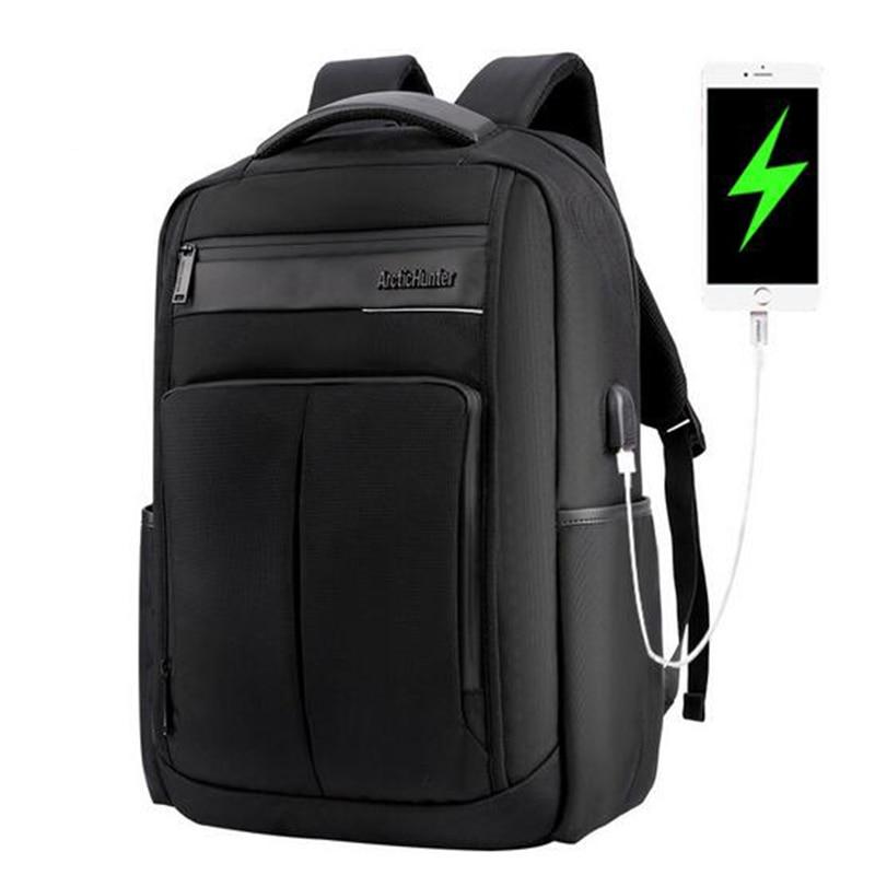 ARCTIC HUNTER Multi-function Men Backpack External USB Charge Computer Bag Anti-theft 15.6 inch Waterproof Laptop backpack arctic hunter 2017 chest bag for men usb