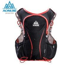 AONIJIE 5L Outdoor Sports Backpack Women Men Marathon Hydration Vest Pack Water Bladder Hiking Camping Running Marathon Race
