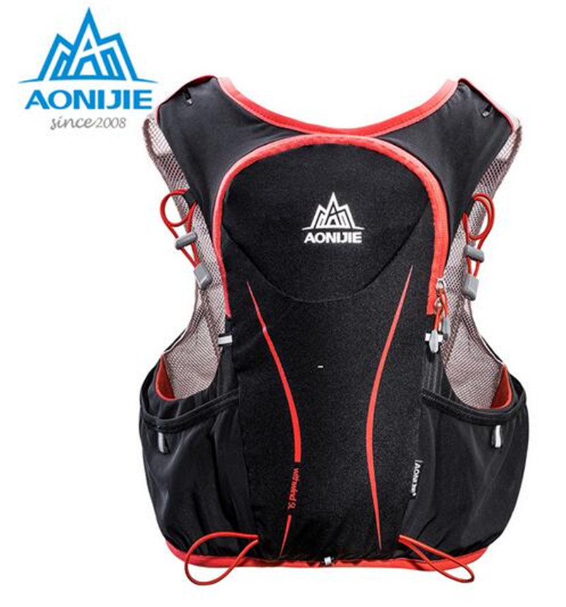 AONIJIE 5L Outdoor Sports Backpack Women Men Marathon Hydration Vest Pack Water Bladder Hiking Camping Running Marathon Race