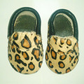 New Leopard print First Walkers Genuine Leather Horse hair baby boy shoes Toddler Baby moccasins 11-15cm Free shipping