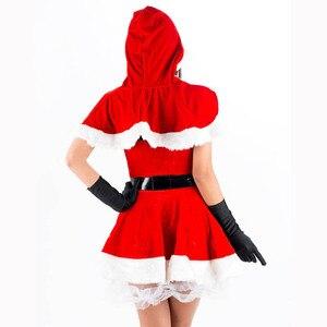 Image 3 - ユニークな2016高品質赤いセクシーなクリスマス衣装レディース包まれた胸ミニサンタドレスファッションクリスマスサンタ衣装W444047