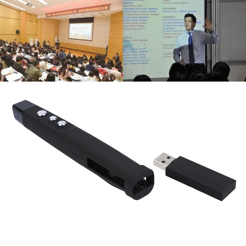 Red Laser Pointer Pen RF 2.4Ghz USB Wireless Presenter PPT Remote Control for Powerpoint Presentation 5mw red green laser pointer laser pen presenter present pen with star cap