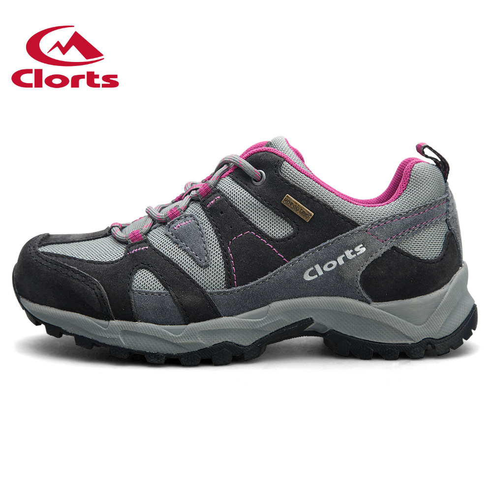 Clorts Women Trekking Shoes Outdoor Hiking Lace Up Shoes Waterproof Suede Hiking Shoes Female Breathable Climbing Shoes HKL-828D breathable lace up men outdoor hiking shoes