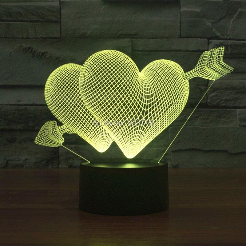 The Arrow of Love 3D LED Night Light (4)