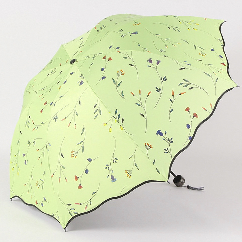 fa31bb507913 US $9.78 48% OFF|Chic Floral ANTI UV Foldable Umbrellas Sun Compact Women  Female Ladies Lady Windproof Rain Lovely Flower Candy Colorful Umbrella-in  ...