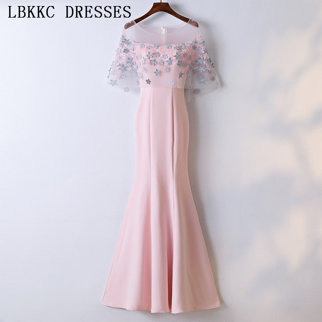Cap Sleeve Mermaid   Prom     Dresses   Satin Tulle Vestido De Festa Appliques Flowers Gala Jurken Long   Prom     Dress   Women Evening   Dress